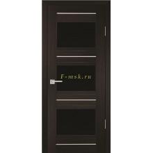 Дверь PSS-11 Мокко  черный лакобель со стеклом (Товар № ZF114440)