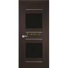 Дверь PSS-21 Мокко  черный лакобель со стеклом (Товар № ZF114442)