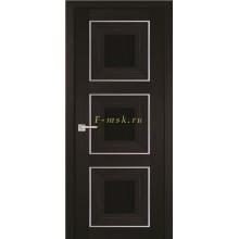 Дверь PSS-31 Мокко  черный лакобель со стеклом (Товар № ZF114453)