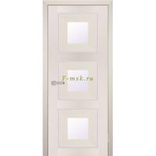 Дверь PSS-31 Перламутровый дуб  белый лакобель со стеклом (Товар № ZF114454)
