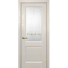 Дверь PSU-27 Бланжевое дерево  Сатинат с художественным рисунком решетка со стеклом (Товар № ZF114457)