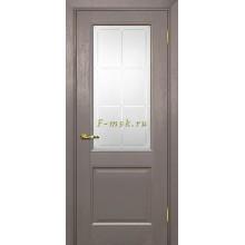 Дверь PSU-27 Каменное дерево  Сатинат с художественным рисунком решетка со стеклом (Товар № ZF114458)