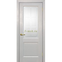 Дверь PSU-27 Лунное дерево  Сатинат с художественным рисунком решетка со стеклом (Товар № ZF114459)