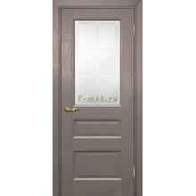 Дверь PSU-29 Каменное дерево  Сатинат с художественным рисунком решетка со стеклом (Товар № ZF114464)