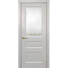Дверь PSU-29 Лунное дерево  Сатинат с художественным рисунком решетка со стеклом (Товар № ZF114465)