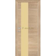 Дверь PX-6 Дуб натуральный патина  кремовый лакобель со стеклом (Товар № ZF114496)