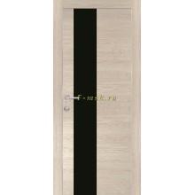 Дверь PX-6 Капучино Мелинга  черный лакобель со стеклом (Товар № ZF114497)