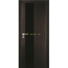Дверь PX-6 Венге горизонтальный  черный лакобель со стеклом (Товар № ZF114493)