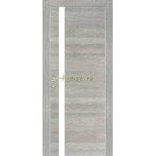 Дверь PX-8 Дуб грей патина  белый лакобель со стеклом (Товар № ZF114506)