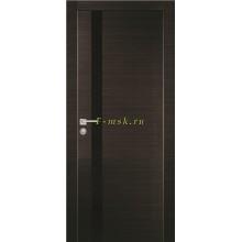 Дверь PX-8 Венге горизонтальный  черный лакобель со стеклом (Товар № ZF114504)