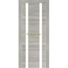 Дверь PX-9 Дуб грей патина  белый лакобель со стеклом (Товар № ZF114511)