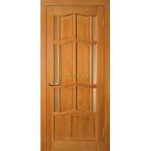 Дверь Ампир ДБО Тонированная сосна  Бронза рифленное со стеклом (Товар № ZF114524)