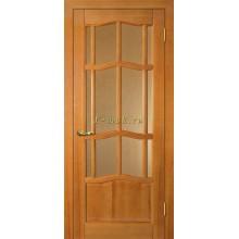 Дверь Ампир ДО Тонированная сосна  Бронза рифленное со стеклом (Товар № ZF114527)