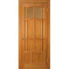 Дверь Ампир ДВО Тонированная сосна  Бронза рифленное со стеклом (Товар № ZF114525)