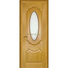 Дверь Ариана Светлый дуб  Сатинат, пескоструйная обработка со стеклом (Товар № ZF114528)