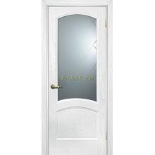 Дверь Вайт 01 Ясень айсберг  Белое, гравированное, рис. Готика со стеклом (Товар № ZF114530)