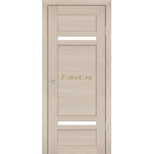 Дверь PS-05 Капучино Мелинга  белый сатинат со стеклом (Товар № ZF114104)