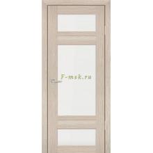 Дверь PS-06 Капучино Мелинга  белый сатинат со стеклом (Товар № ZF114110)