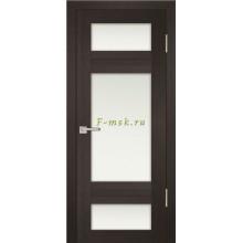 Дверь PS-06 Венге Мелинга  белый сатинат со стеклом (Товар № ZF114108)
