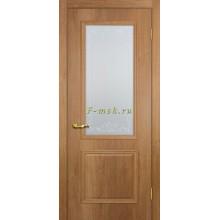 Дверь Верона 1 дуб арагон  Сатинат, контурный полимер бесцветный со стеклом (Товар № ZF114543)