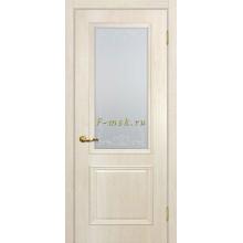 Дверь Верона 1 дуб бриош  Сатинат, контурный полимер бесцветный со стеклом (Товар № ZF114545)