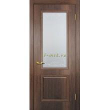 Дверь Верона 1 дуб сан-томе  Сатинат, контурный полимер бесцветный со стеклом (Товар № ZF114547)