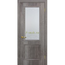 Дверь Верона 1 дуб тофино  Сатинат, контурный полимер бесцветный со стеклом (Товар № ZF114549)