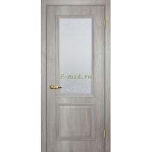 Дверь Верона 1 дуб эссо  Сатинат, контурный полимер бесцветный со стеклом (Товар № ZF114551)