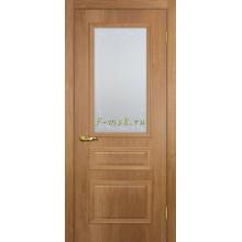 Дверь Верона 2 дуб арагон  Сатинат, контурный полимер бесцветный со стеклом (Товар № ZF114553)