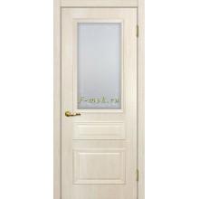 Дверь Верона 2 дуб бриош  Сатинат, контурный полимер бесцветный со стеклом (Товар № ZF114555)
