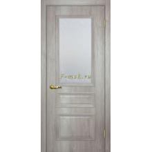 Дверь Верона 2 дуб эссо  Сатинат, контурный полимер бесцветный со стеклом (Товар № ZF114561)