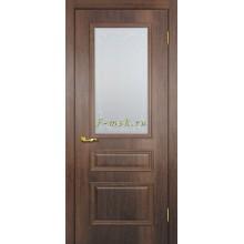 Дверь Верона 2 дуб сан-томе  Сатинат, контурный полимер бесцветный со стеклом (Товар № ZF114557)
