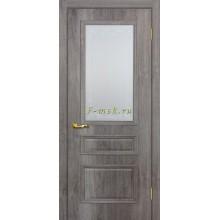 Дверь Верона 2 дуб тофино  Сатинат, контурный полимер бесцветный со стеклом (Товар № ZF114559)