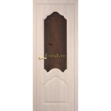 Дверь Кардинал Капучино Мелинга  Бронза сатинат, художественное, фьюзинг со стеклом (Товар № ZF114594)