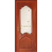 Дверь Кардинал Красное дерево  Сатинат, художественное, фьюзинг со стеклом (Товар № ZF114596)