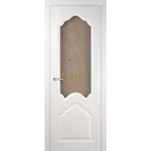 Дверь Кардинал ЭшВайт Мелинга  Сатинат, художественное, фьюзинг со стеклом (Товар № ZF114602)