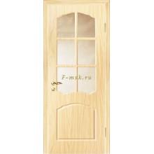 Дверь Лидия Беленый дуб (Береза)  Бронза рифленное со стеклом (Товар № ZF114609)