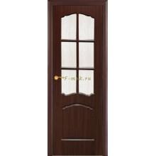 Дверь Лидия Венге (Эбен)  Бронза рифленное со стеклом (Товар № ZF114613)