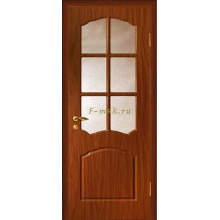 Дверь Лидия Итальянский орех  Бронза рифленное со стеклом (Товар № ZF114615)