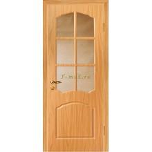 Дверь Лидия Миланский орех  Бронза рифленное со стеклом (Товар № ZF114617)