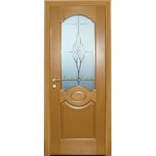 Дверь Милано Светлый дуб  Сатинат, пескоструйная обработка со стеклом (Товар № ZF114618)