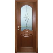 Дверь Милано Темный орех  Сатинат, пескоструйная обработка со стеклом (Товар № ZF114619)