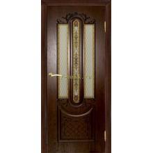 Дверь Мулино 05 Дуб коньячный  Триплекс, художественное со стеклом (Товар № ZF114622)