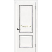Дверь Мурано-1 Белый серебро  глухое (Товар № ZF114625)
