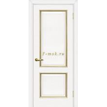 Дверь Мурано-1 Белый золото  глухое (Товар № ZF114623)
