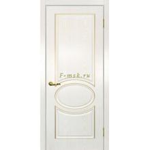 Дверь Сиена-1 патина Белый золото  глухое (Товар № ZF114647)
