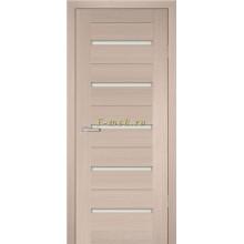 Дверь PS-07 Капучино Мелинга  белый сатинат со стеклом (Товар № ZF114118)