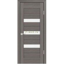 Дверь PS-09 Грей Мелинга  белый сатинат со стеклом (Товар № ZF114130)