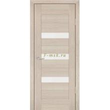 Дверь PS-09 Капучино Мелинга  белый сатинат со стеклом (Товар № ZF114131)