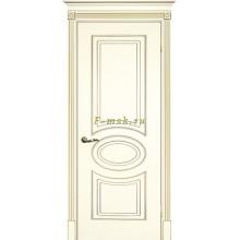 Дверь Смальта 03 Слоновая кость ral 1013 патина золото  глухое (Товар № ZF114712)